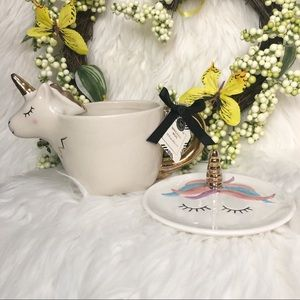 Other - NWT Unicorn Mug And Jewelry Plate Set 🦄
